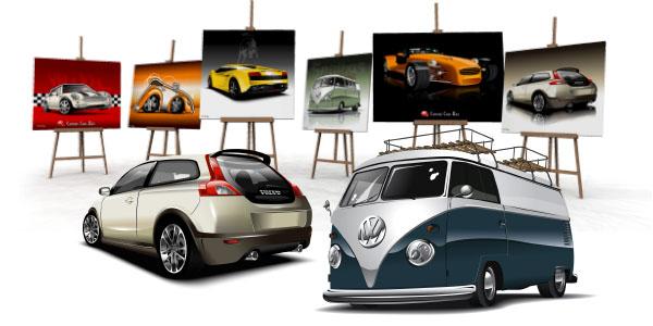 car art uniek auto schilderij